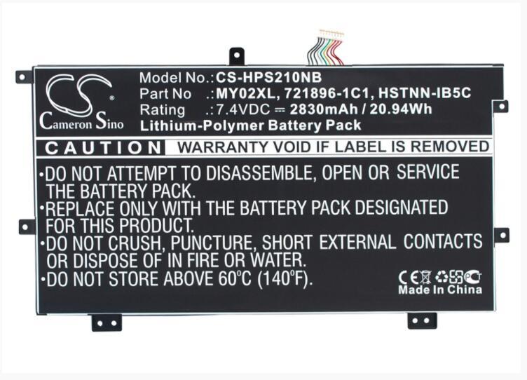 Аккумулятор Cameron Sino 2830mAh для HP Pavilion 11 11 H000sg Slatebook x2 10 H010NR TPN Q127 721896 1C1 721896 421