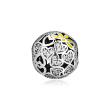 CKK Fits For Pandora Charms Bracelets Sparkling Hearts Charm 100% 925 Sterling-Silver-Jewelry