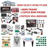Полный ECU чип тюнинг инструмент онлайн ЕС красный Kess V2 V5.017 неограниченный KTAGV7.020 FGTECH Galletto 4 V54 V0386/V0475 BDM100 автомобиль грузовик