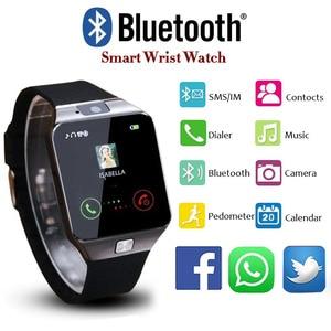 Image 4 - Bluetooth Smart Uhr Smartwatch DZ09 Android Anruf Relogio 2G GSM SIM TF Karte Kamera für iPhone Samsung Android PK GT08 A1