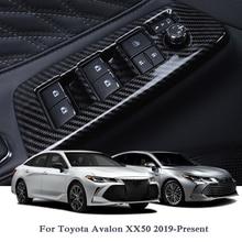Toyota avalon xx50 용 내부 도어 윈도우 리프트 스위치 스팽글 2019 현재 내부 스티커 자동 인테리어 프레임 액세서리
