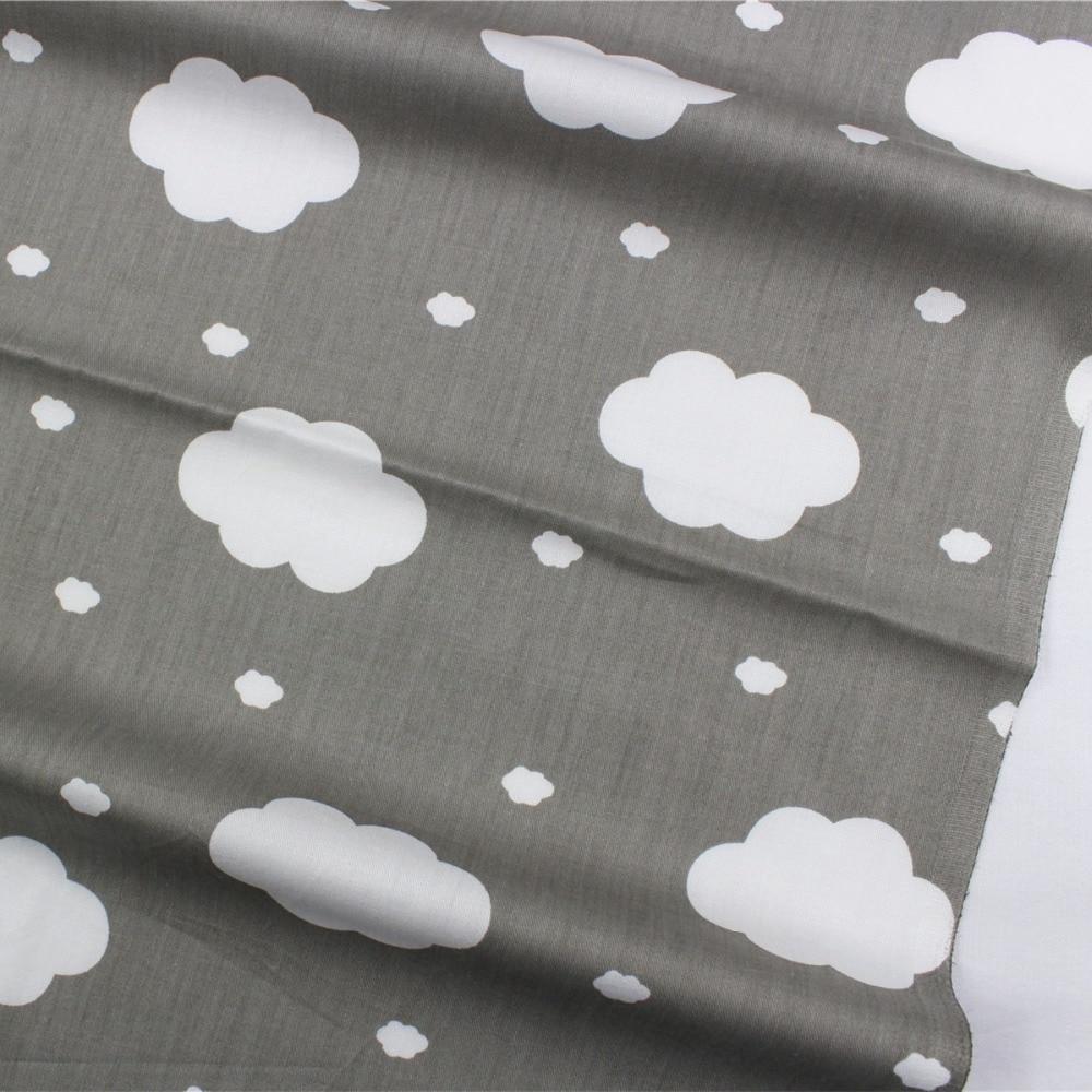 16608-51F1, Nube blanca Rayón tela de algodón, los niños les gusta el estilo 50 cm * 150 cm diy hecho a mano patchwork tela de algodón textiles para el hogar