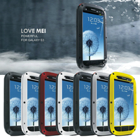 Love Mei Powerful Case For SAMSUNG GALAXY S3 Waterproof Shockproof Tempered Glass Phone Case For SAMSUNG