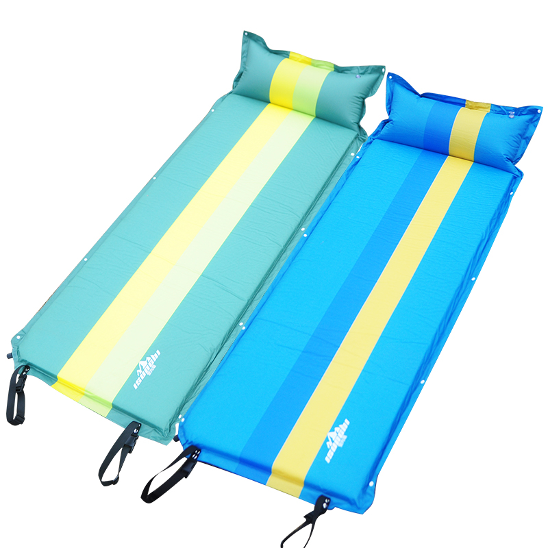 Outdoor automatic inflatable mat c&ing tent sleeping patchwork floor mats moisture proof pad swimming pool mat with pillow-in C&ing Mat from Sports ...  sc 1 st  AliExpress.com & Outdoor automatic inflatable mat camping tent sleeping patchwork ...