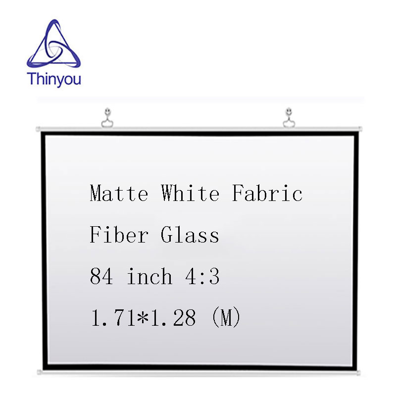 Thinyou 84 inch 4 3 Screen Wall Matte White Fabric Fiber Glass Portable font b Projector