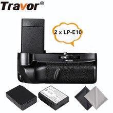 Travor Батарейный держатель для canon 1100d 1200d 1300d Rebel T3 T5 T6 EOS Kiss X50 DSLR камеры+ 2 шт. LP-E10+ 2 шт. ткань для объектива