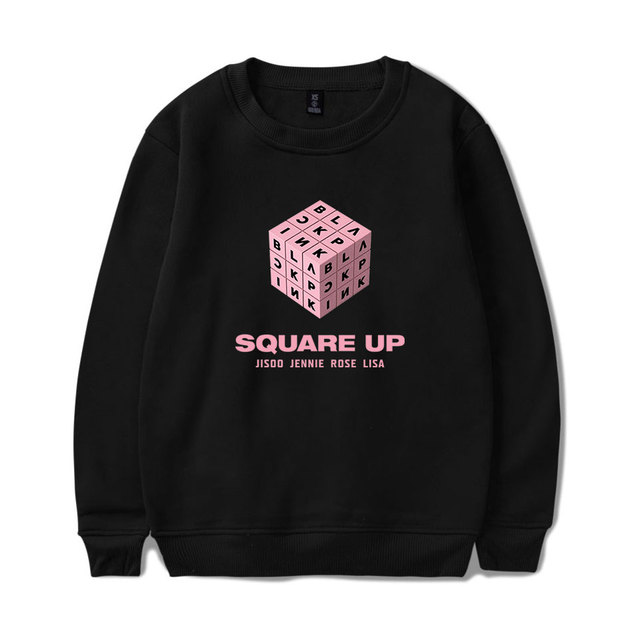 LUCKYFRIDAYF Kpop BLACKPINK Square Up Women/Men Long Sleeve Plus Size Harajuku