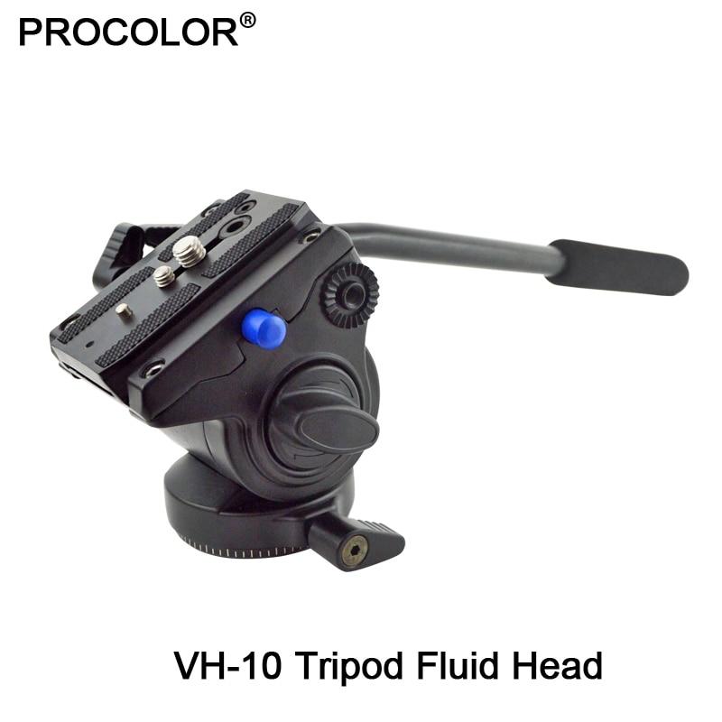 Professional Hydraulic Damping 3-way Tripod Fluid Head / Video Camera Monopod Head For Video DSLR Camera Bird Watching