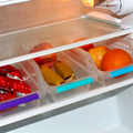 3 Pcs/lot Plastic Kitchen Refrigerator Storage Baskets Fridge Freezer Shelf Holder Large Capacity  Freezer Organiser Space Saver