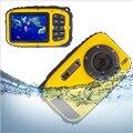 Hot 2.7 polegadas LCD 16MP Anti-shake Câmeras Câmera Digital Subaquática 10 m Câmera À Prova D' Água + 8X Zoom Vídeo Camcorde Frete Grátis