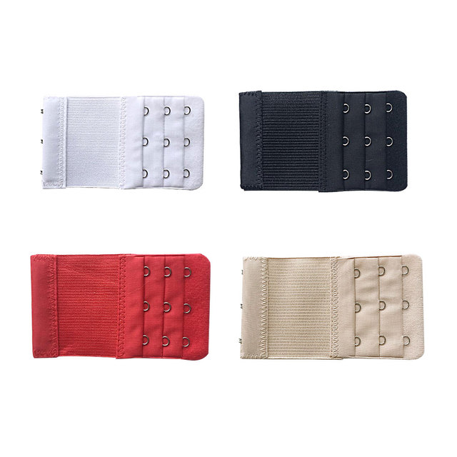 d5457f13a8e5c 4 Pcs Bra Extenders Strap 3 Hooks 3 Rows Women Ajustable Intimates  Lengthened Bra Hook Buckle