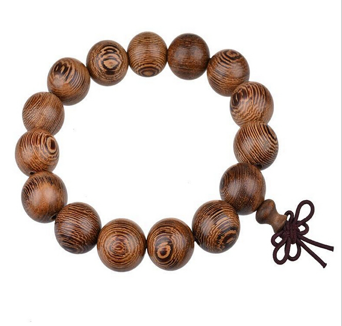 2017 Free Shipping Clic 12mm Wooden Bead Bracelet Vintage Chinese Style Female And Male Jewelry Accessories Lq In Strand Bracelets From