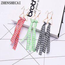 Long Drop Earrings Fashion Jewelry boucle d'oreille Round Triangle Tassel Earring For Women Brincos Geometric Jewelry e0322(China)