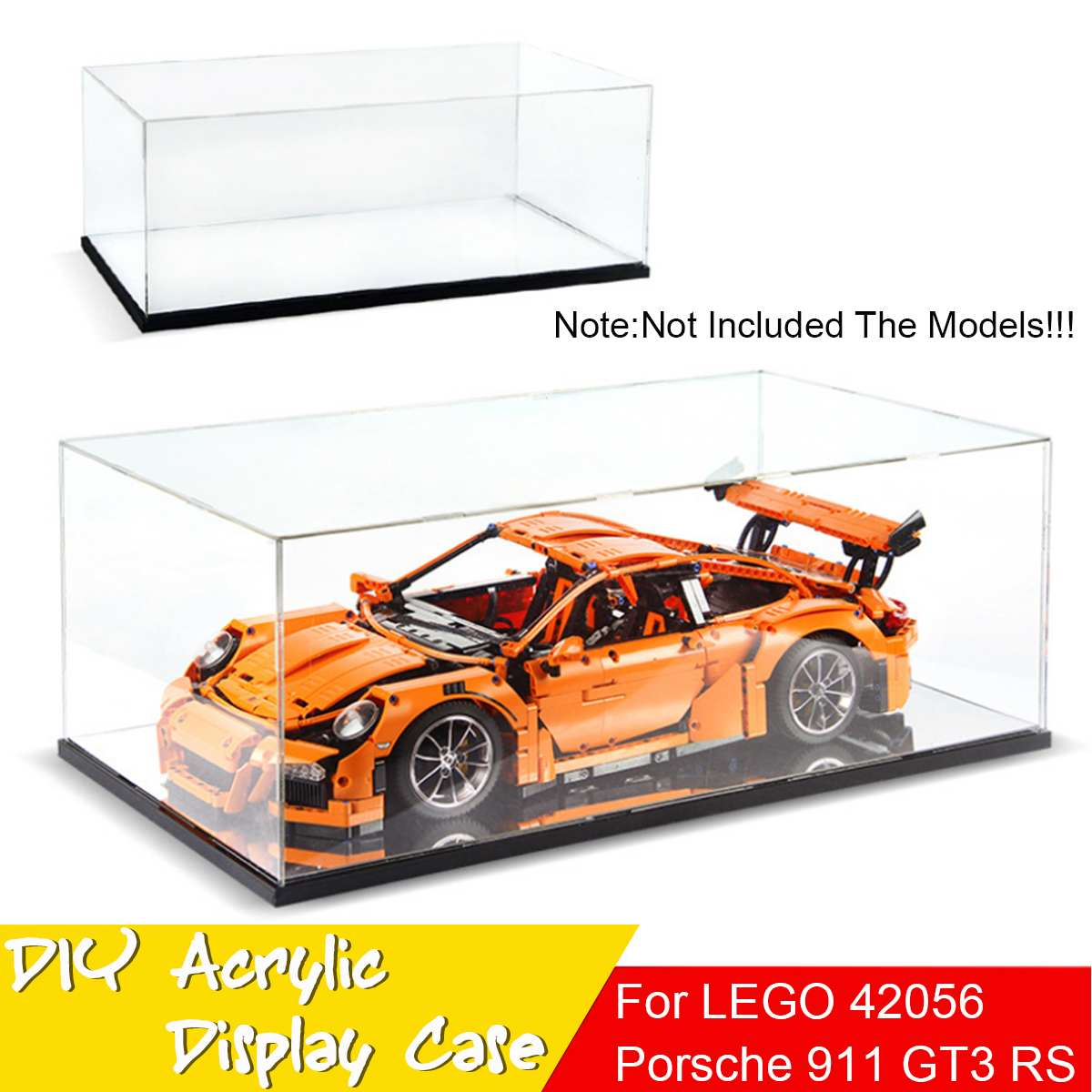 Us 56 33 Acrylic Display Case Box For Lego 42056 For Porsche 911 Gt3 Rs For Bugatti Chiron Technic Series Toy Bricks Model Not Included In Blocks
