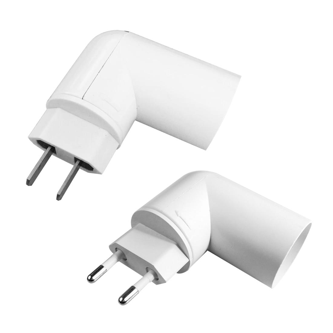 Initiative Centechia Us/eu Plug Pbt Pp To E27 White Base Led Light Lamp Holder Bulb Adapter Converter Socket To E27 Accessories & Parts Consumer Electronics