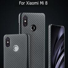 Housse en Fiber de carbone pour Xiao mi 9 Pro mi 9 5G mi x 3 étui mat Ara mi d fibre Ultra mince housse de protection de luxe pour téléphone