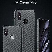 Luxurious Carbon Fiber Case Cover For Xiaomi Mi 9 Mi 8 Mi 8 explorer edition Case Matte Aramid Fiber Ultra Thin Phone Cover