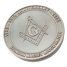 Customized Metal Masonic Logo coins cheap OEM Challenge Coins for Promotion Gift