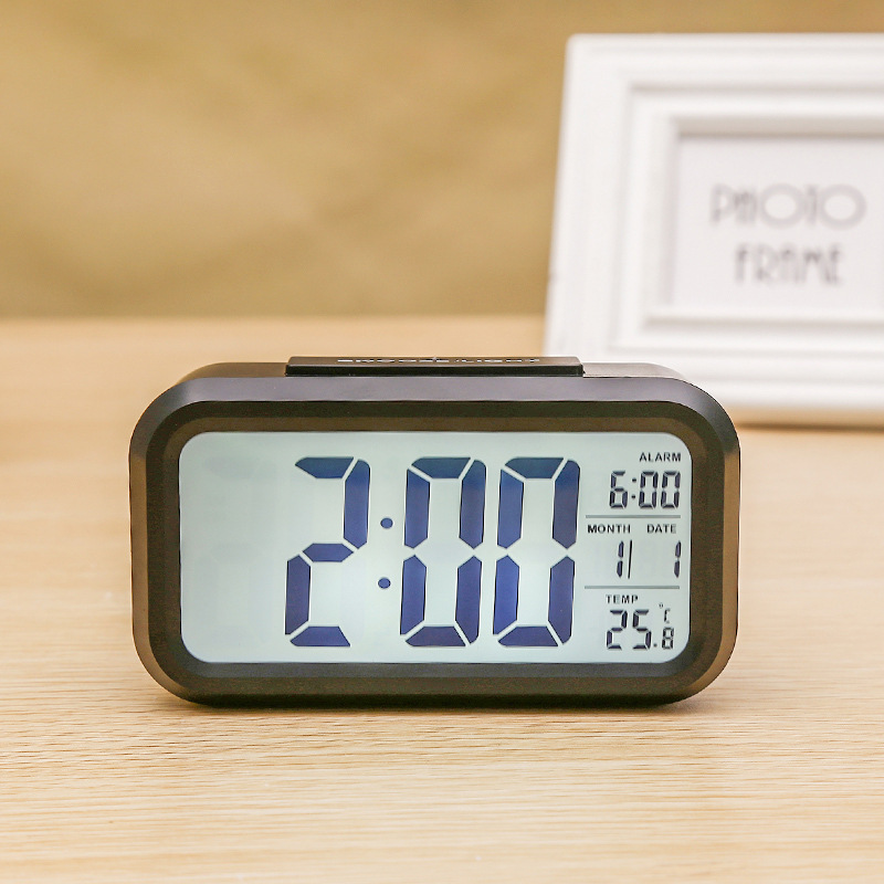 US $8.64 50% OFF|Modern Digital LCD Wake Up Alarm Clocks 2019 New With  Backlight Time Temperature Display Bedroom Alarm Clock Snooze Function-in  Alarm ...