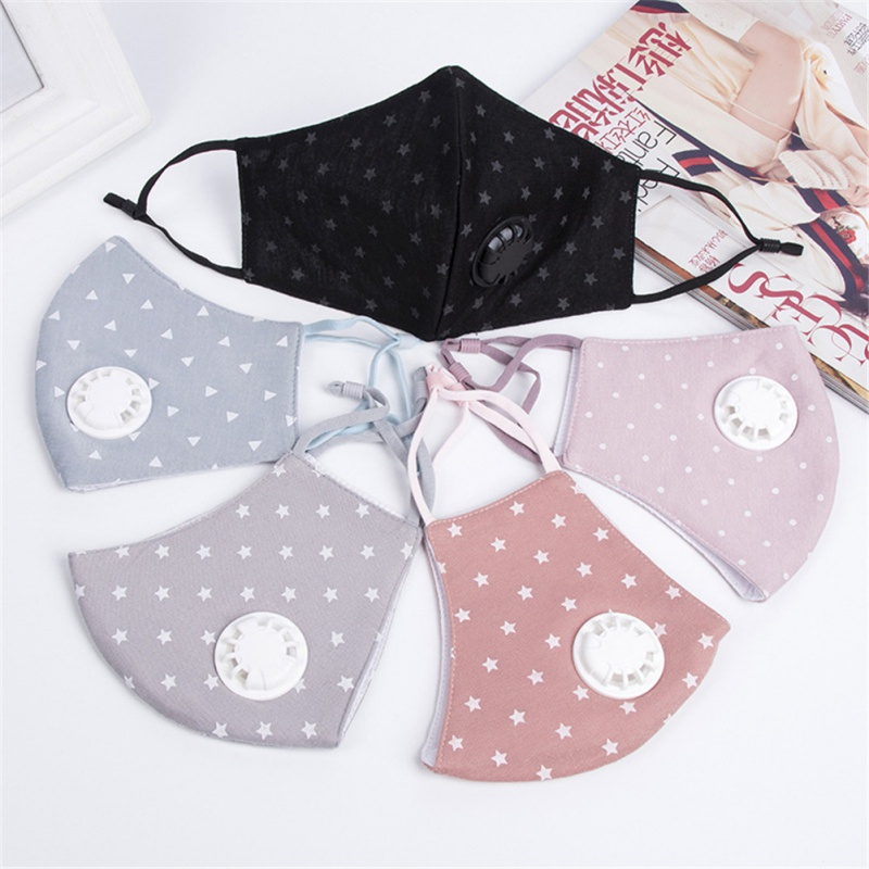 Women Cotton Breath Mouth Mask Anti-Dust Anti Pollution Mask Cloth Filter Respirator Fashion Mouth-muffle