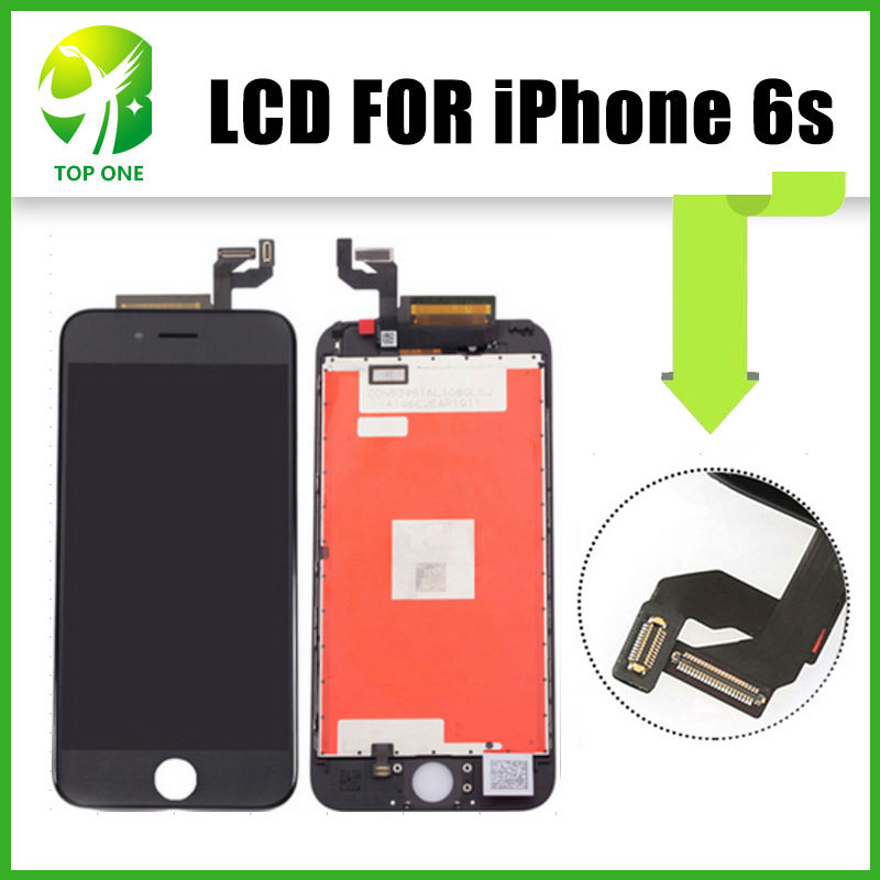 ФОТО 3pcs Prefect Screen Display For iPhone 6S LCD With Touch Digitizer Assembly Replacement by DHL