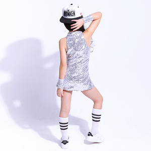 Image 5 - بدلة للرقص للأطفال لموسيقى الراقصة من ماركة سونغيوكسيا بدلة رقص هيب هوب للأطفال ملابس للرقص عصرية براقة ملابس للرقص ملابس للتشجيع للفتيات
