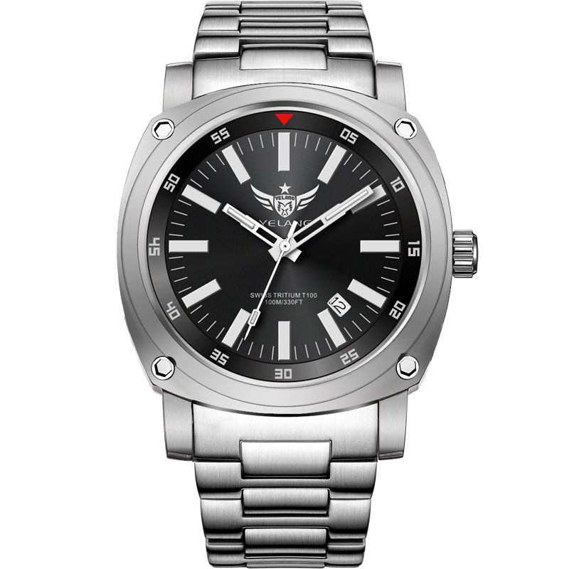 где купить YELANG V3.3 plus super bright tritium gas luminous mens sapphire mirror men business titanium alloy automatic mechanical watch по лучшей цене