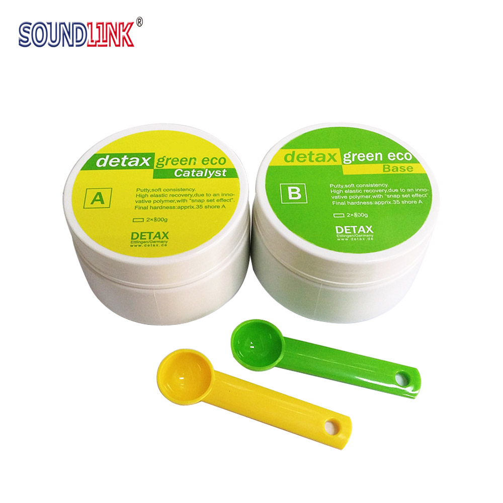 Detax Impression Material Putty Silicone Base + Catalyst  choose from  400g*2 and  500g*2 Detax Impression Material Putty Silicone Base + Catalyst  choose from  400g*2 and  500g*2