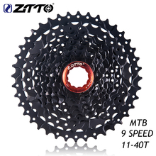 цены ZTTO 9s 27s Speed Freewheel Cassette MTB Mountain Bike Bicycle Parts 11-40T WIDE RATIO Compatible for M430 M4000 M3000