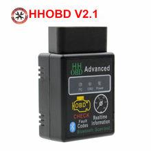 2018 carro scanner de diagnóstico automático v2.1 obd2 hh obd elm327 funciona android torque bluetooth elm327 hh obd interface elm 327