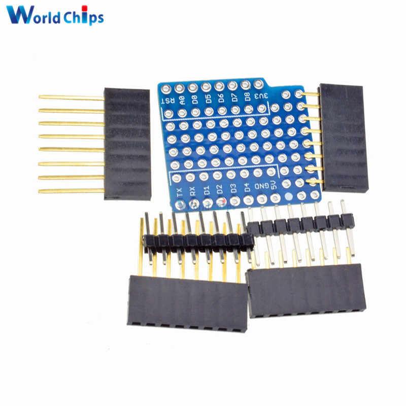 WeMos 用ブレッドボード拡張シールドピンリチウム電池 ProtoBoard D1 ミニモジュールセンサーミニ両面 Perf ボード
