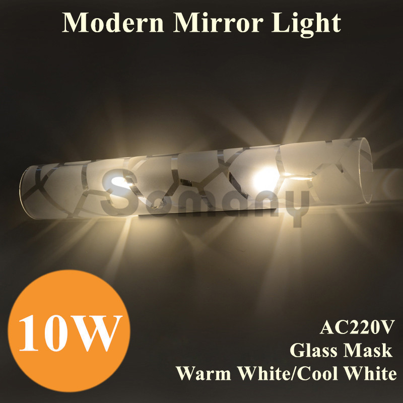 Fashion 10W Modern Mirror Light Water Cube Shape Glass Mask AC220V Warm White/Cool White for Bedroom/Bathroom Lighting Wall Lamp free shipping modern fashion bathroom light three crystals 45cm ac85 265v 9w cool warm white high power led mirror wall light