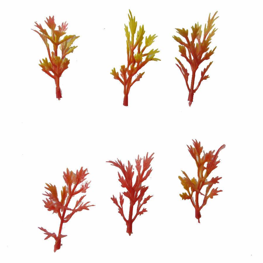 100 шт смешанные цвета модель железной дороги железнодорожной цветочной травы 1:100 HO весы