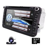 Wholesale 2 Din 8 Inch Car DVD Player For VW Volkswagen Passat POLO GOLF Skoda Seat