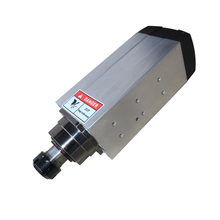 6kw AC380V ER32 collet Air Cooled Spindle Motor with 4 ceramic bearings for wood cnc router