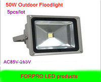 5pcs 50W LED floodlight Warm white Cool white AC85 265V Waterproof led flood lights outdoor lamp
