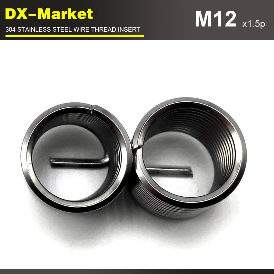 M12*3D *1.5P , 30pcs , Fine Thread ,  304 Stainless Steel Bolt Thread Inserts , Thread   Repair Recoil Insert Fastener