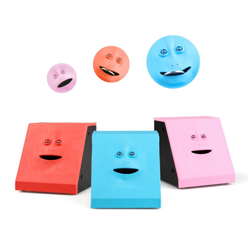 Enjoybay лицо Eating деньги копилку коробка игрушки монеты сохранение Smart Сенсор сейфы милый палантин монету Facebank игрушки для подарки для детей