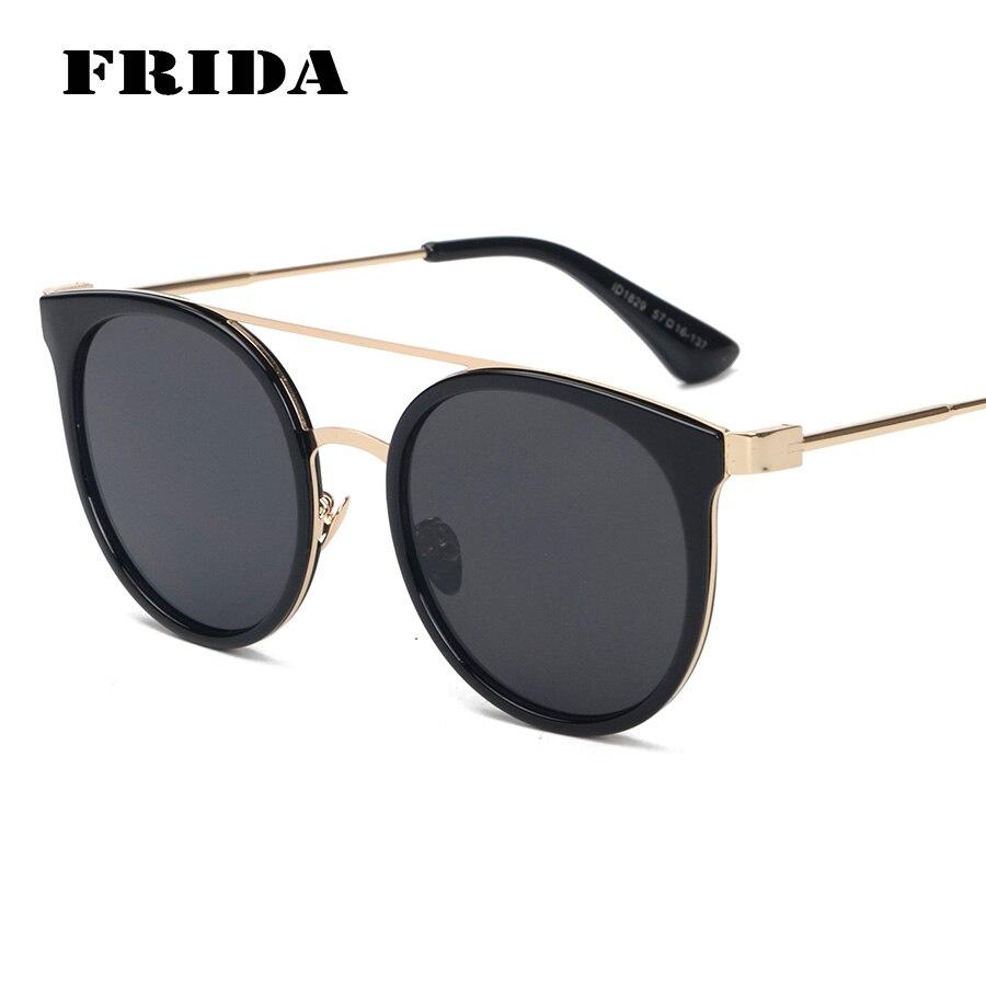 FRIDA Rodada Estilo Moda Pontos de Cristal Espelho Reflexivo óculos de Sol  Dos Homens Das Mulheres Óculos de Sol Retro oculos de sol Do Vintage UV400 c2821110dd