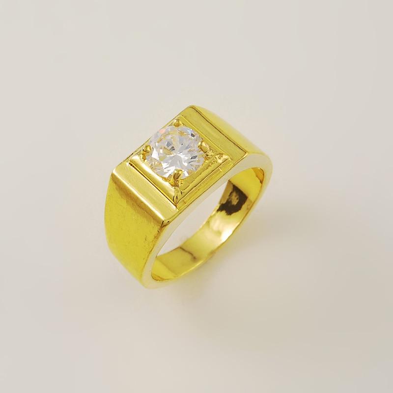 2015 New Style 24k Gold Colou Rings WeddingEngagement Romantic
