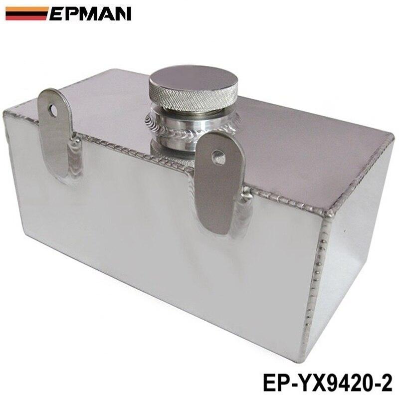 2L Aluminium Universal Poliert Windschutz Scheibe Flasche Ladeluftkühler Spray Tank Mit Kappe Kit Spur Auto EP-YX9420-2