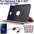 """Стенд Смарт PU Кожаный Funda Обложка для Samsung Galaxy Tab 10.1 """"T580 T585 T580N Tablet Чехол + Бесплатный Протектор Экрана + OTG + Ручка"""
