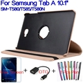 """Stand Smart PU Leather Funda Cover for Samsung Galaxy Tab A 10.1"""" T580 T585 T580N Tablet Case+Free Screen Protector+OTG+Pen"""