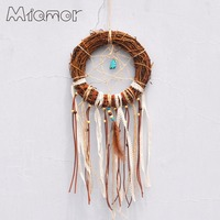 Ratán Círculo Dreamcatcher Dream Catcher Net Con Turquesa Hecha A Mano Bodas y Bar y Casa de la Decoración de La Pared Colgante AMOR0018