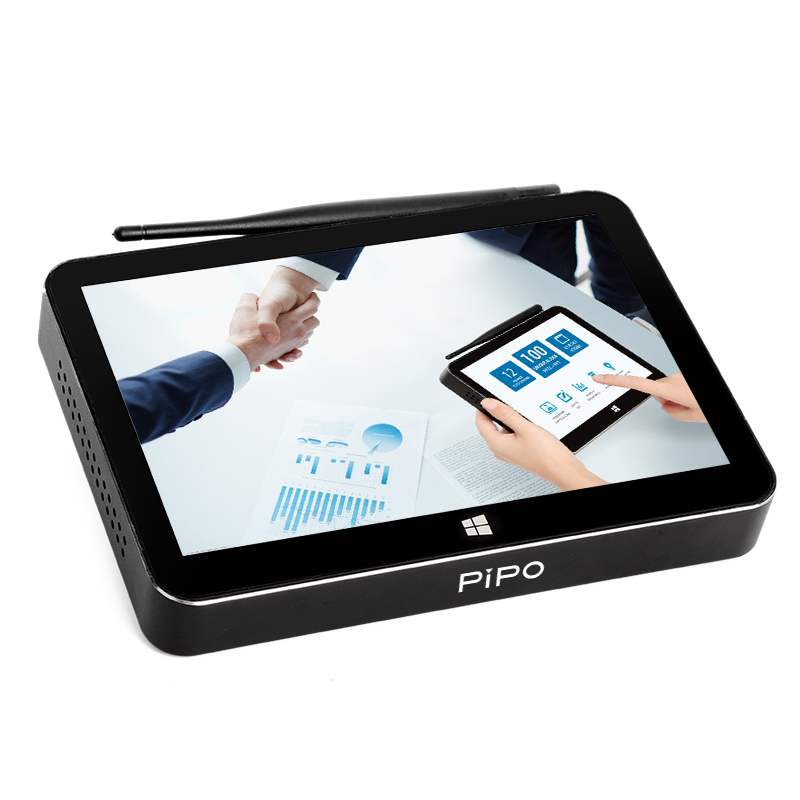 Pipo X11 Мини ПК четырехъядерный процессор Intel Cherry Trail Z8350 2 ГБ/32 ГБ флэш памяти смарт ТВ Box Android Windows 10 двойной OS 8,9 дюймовый сенсорный экран 1920*1200 P