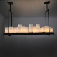 Гостиная светодио дный LED люстра обеденная подвесной светильник спальня подвесной светильник деко освещение промышленных Ретро подвесные