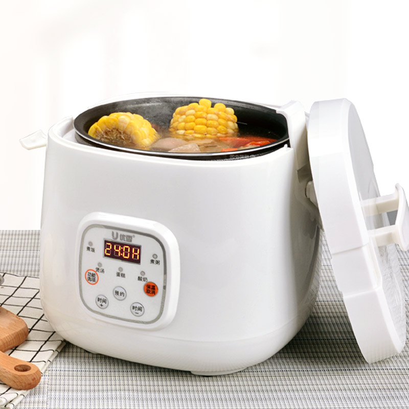 Intelligent Rice Cooker Mini Fully Automatic Small Household 1-4 People Appointment Timing 2L Porridge Soup Yogurt цена и фото