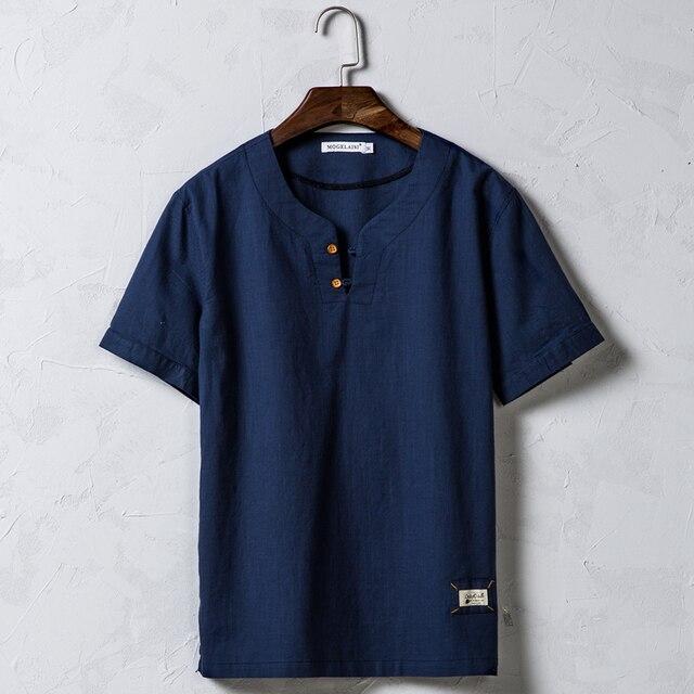 40e15f41f2 OSCN7 Ropa de Manga Corta camiseta de Ocio Para Los Hombres de Moda de  Estilo Chino