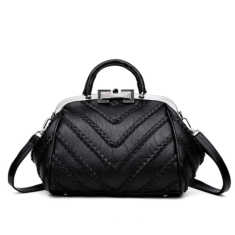 2018 Elegant Women Tote Bags High Quality PU Leather Handbags Designer Women Hobo Shoulder Bag Female Tote Sac A Main Femme Luxe classic black leather tote handbags embossed pu leather women bags shoulder handbags elegant