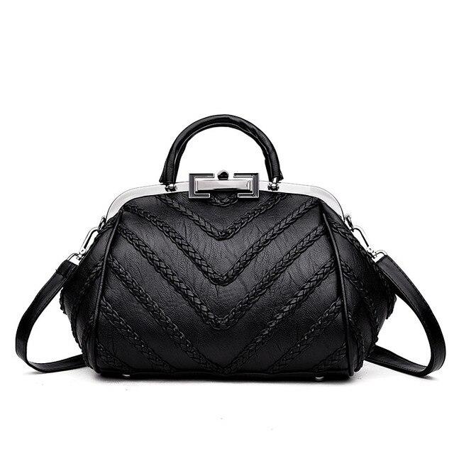 2018 Elegant Women Tote Bags High Quality PU Leather Handbags Designer  Women Hobo Shoulder Bag Female Tote Sac A Main Femme Luxe a1201da154893